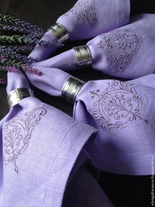 Текстиль, ковры ручной работы. Ярмарка Мастеров - ручная работа. Купить Салфетка с Вышивкой -Вензель. Handmade. Сиреневый, вензель, подарок