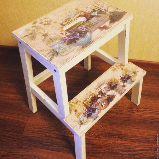 Мебель ручной работы. Ярмарка Мастеров - ручная работа. Купить Табурет-ступенька из серии Прованс. Handmade. Белый
