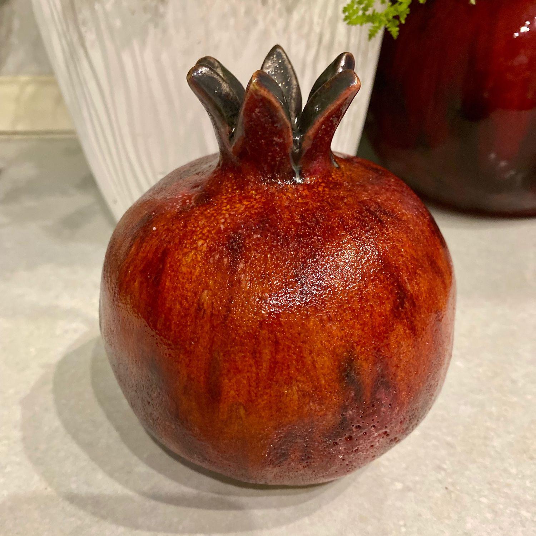 Керамическая ваза ручной работы «Гранат», Вазы, Москва,  Фото №1