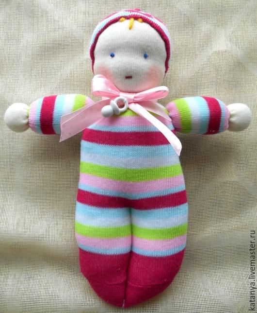 """Вальдорфская игрушка ручной работы. Ярмарка Мастеров - ручная работа. Купить Игрушка """"Пупс"""". Handmade. Разноцветный, игрушка ручной работы"""