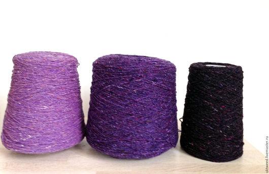 Вязание ручной работы. Ярмарка Мастеров - ручная работа. Купить Soft Donegal Tweed -100% меринос. Handmade. Фиолетовый