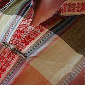 Одежда ручной работы. Ярмарка Мастеров - ручная работа Мужская рубашка этническая одежда бохо хиппи boho в клетку. Handmade.