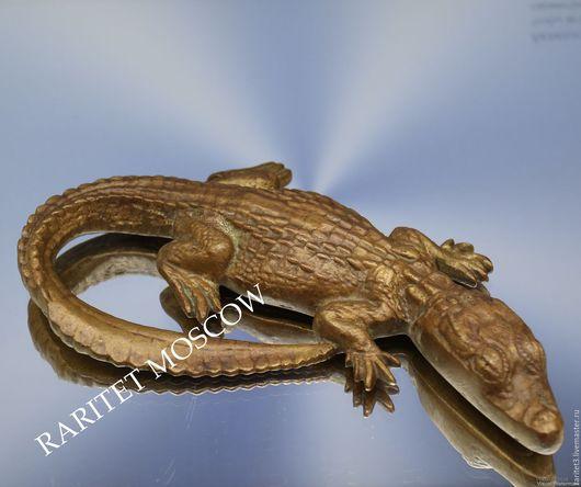 Винтажные предметы интерьера. Ярмарка Мастеров - ручная работа. Купить Крокодил аллигатор бронза латунь Германия 1. Handmade. Раритет