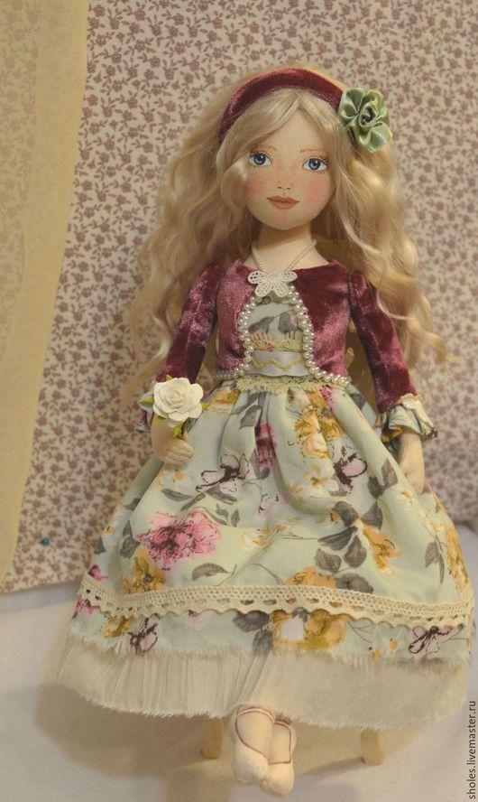 Коллекционные куклы ручной работы. Ярмарка Мастеров - ручная работа. Купить Текстильная кукла Варя. Handmade. Бежевый, авторская кукла