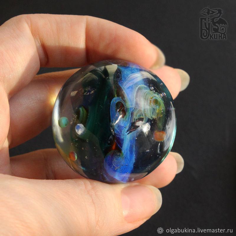 Glass Ball Rainbow Shine Of Space 2 Sphere Meditation Galaxy