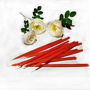 Сувениры и подарки handmade. Livemaster - original item Candles 100 PCs half-hour dipped red. Handmade.