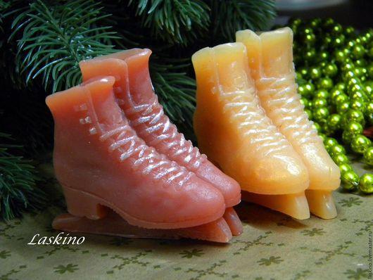 Мыло ручной работы. Ярмарка Мастеров - ручная работа. Купить ЛЕДНИКОВЫЙ ПЕРИОД ( коньки, фигурки), новогоднее мыло, сувенирное. Handmade.