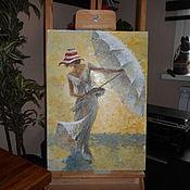 Картины и панно ручной работы. Ярмарка Мастеров - ручная работа солнечный день пейзаж маслом. Handmade.