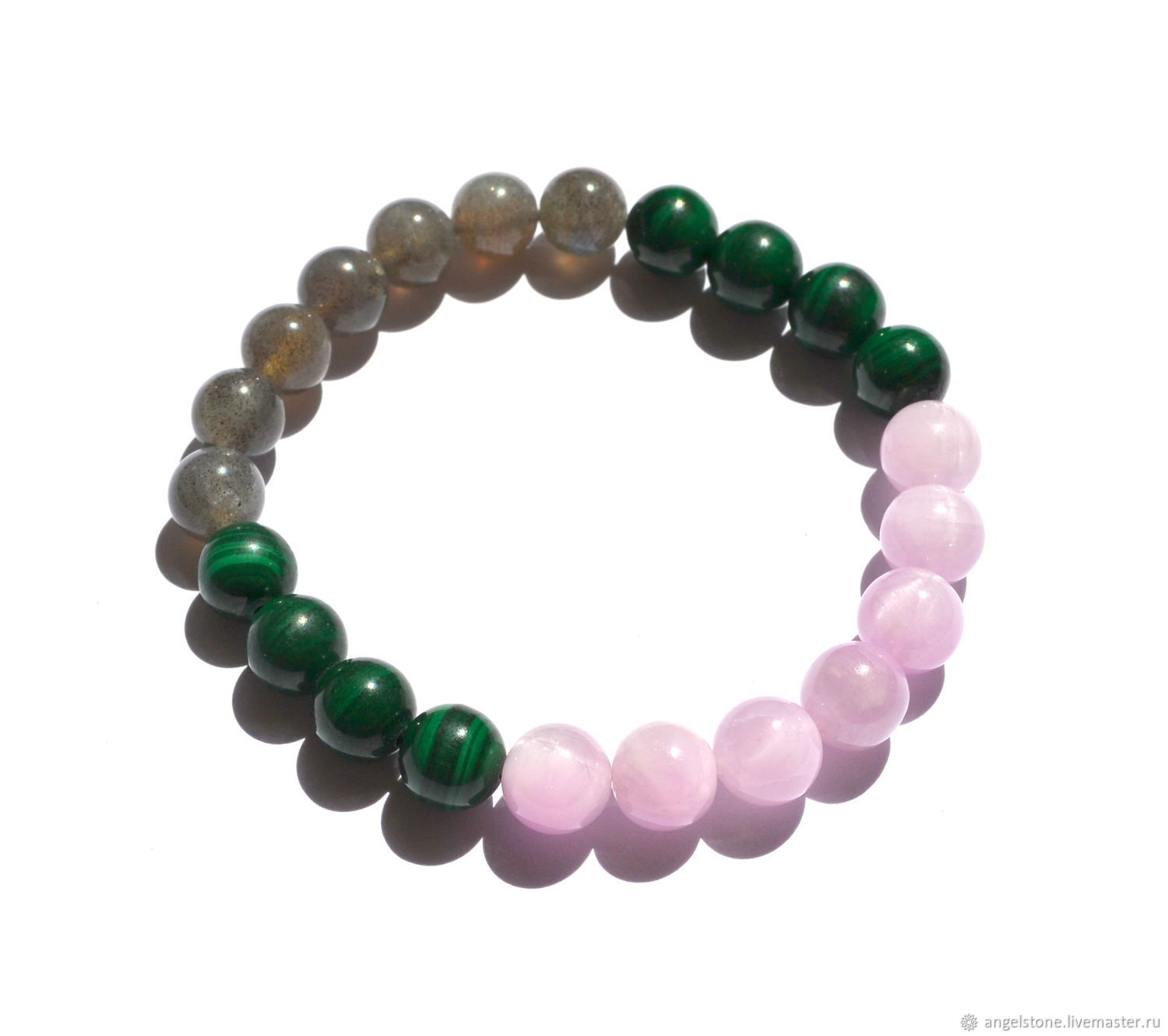 Womens Bracelet With Natural Malachite Alma Online Shopping On My