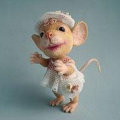 Куклы и игрушки ручной работы. Ярмарка Мастеров - ручная работа Бисерная мышка Ванилинка. Handmade.