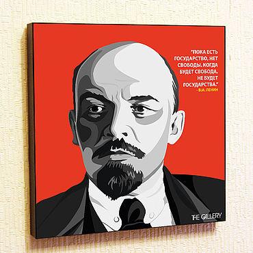 Souvenirs and gifts handmade. Livemaster - original item Painting A Poster Of Vladimir Ilyich Lenin Pop Art. Handmade.