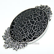 Украшения handmade. Livemaster - original item Brooch Cobweb black color. Handmade.