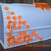 """Свадебный салон ручной работы. Ярмарка Мастеров - ручная работа Сундучок """"Оранжевая осень"""". Handmade."""