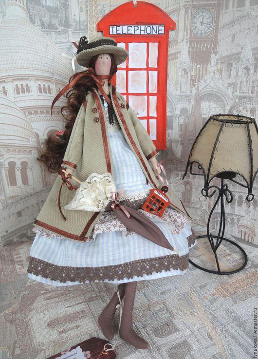 Куклы Тильды ручной работы. Ярмарка Мастеров - ручная работа. Купить Тильда Ангел в английском стиле. Handmade. Коричневый