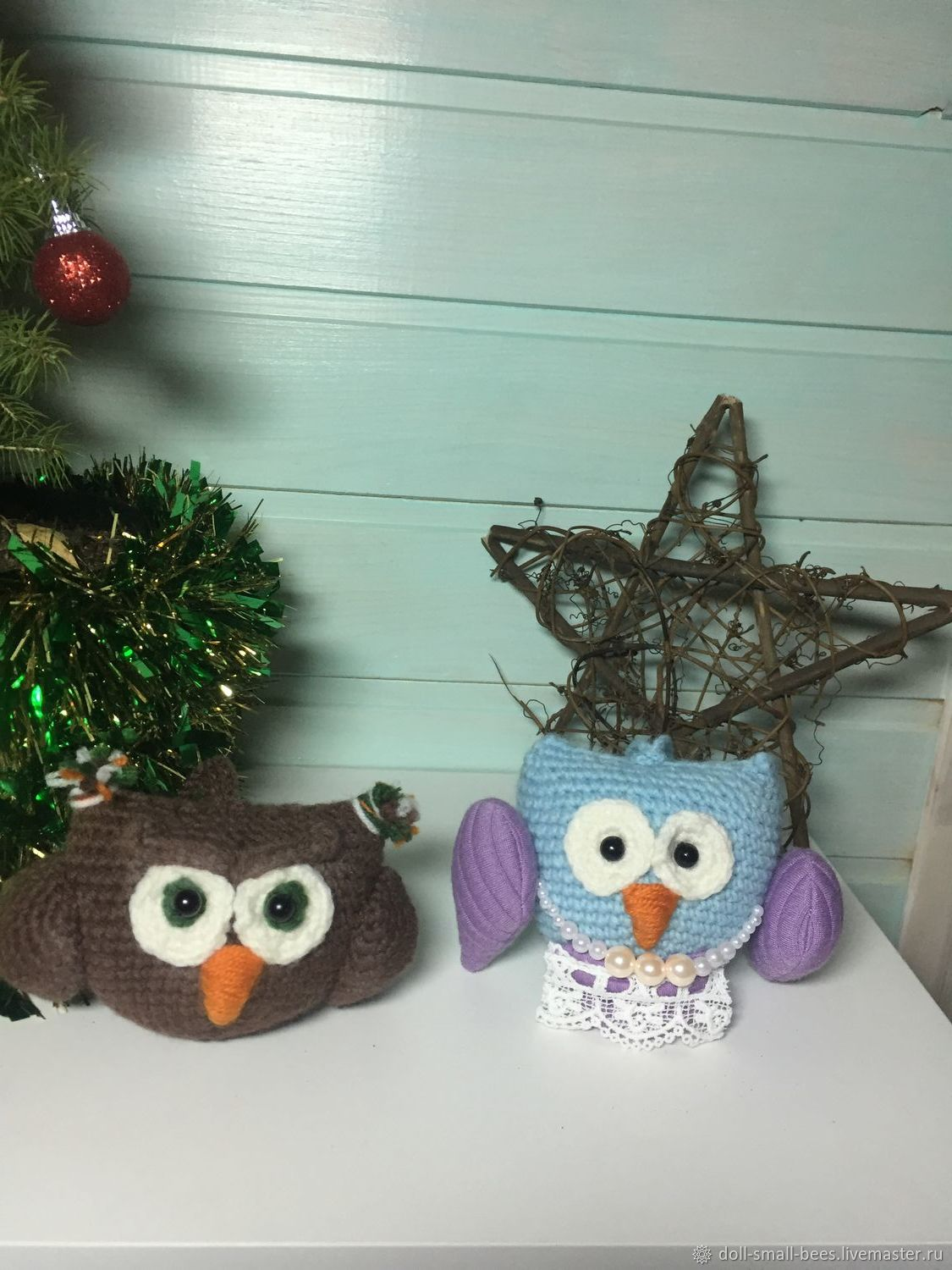 A Set Of Knitted Christmas Ornaments