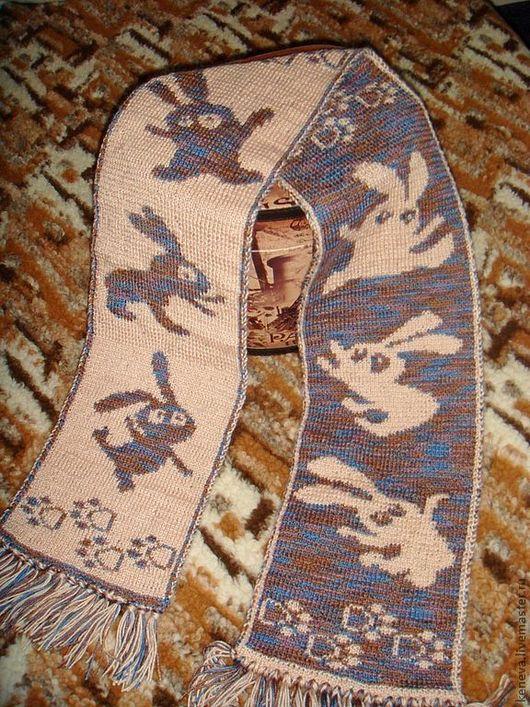 Шарфы и шарфики ручной работы. Ярмарка Мастеров - ручная работа. Купить Вязаный шарф Танцуют все. Handmade. Рисунок, танцы