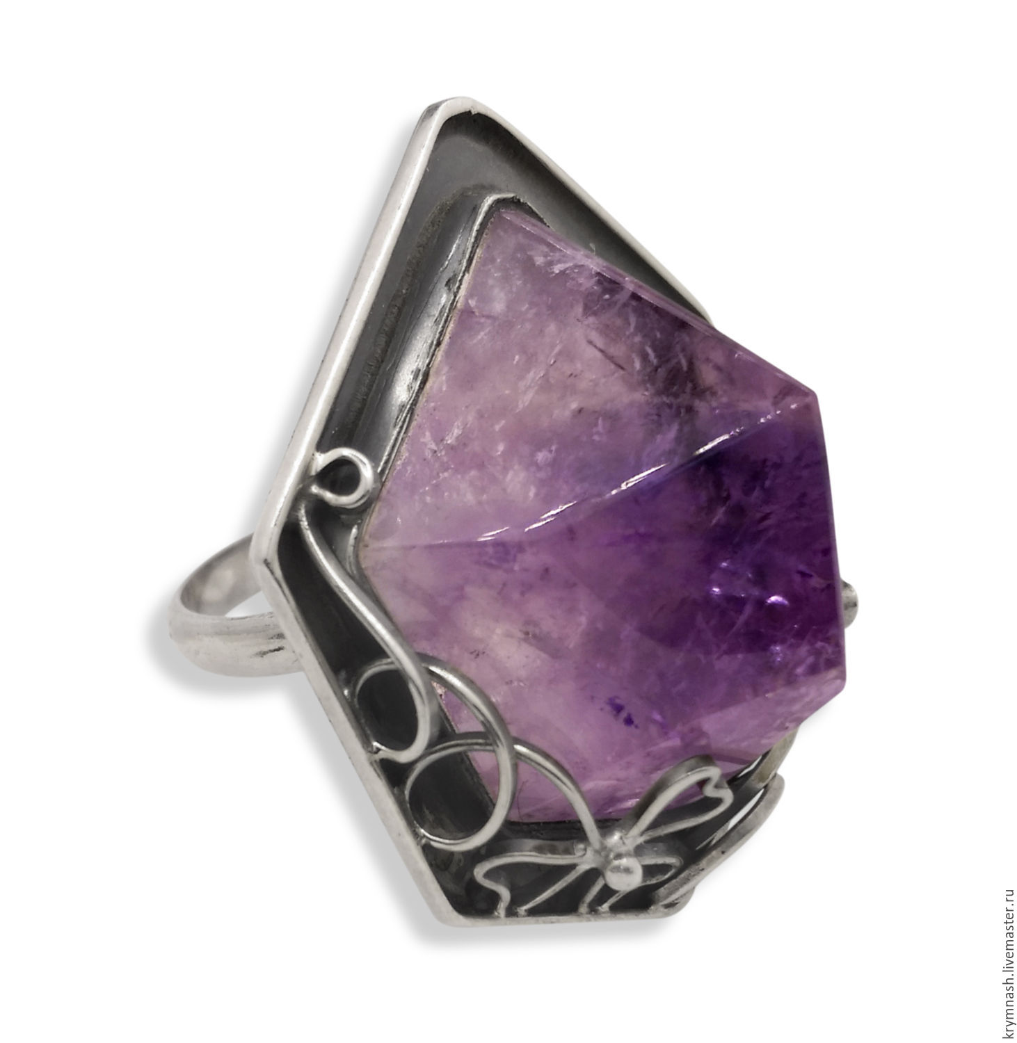 """Ring """"Amethyst crystal"""" of silver 925, Rings, Moscow,  Фото №1"""