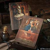 Для дома и интерьера handmade. Livemaster - original item The box-book of the Mysterious world. Decoupage. Handmade.
