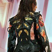 Одежда ручной работы. Ярмарка Мастеров - ручная работа Куртка женская кожаная натуральный крокодил питон.. Handmade.