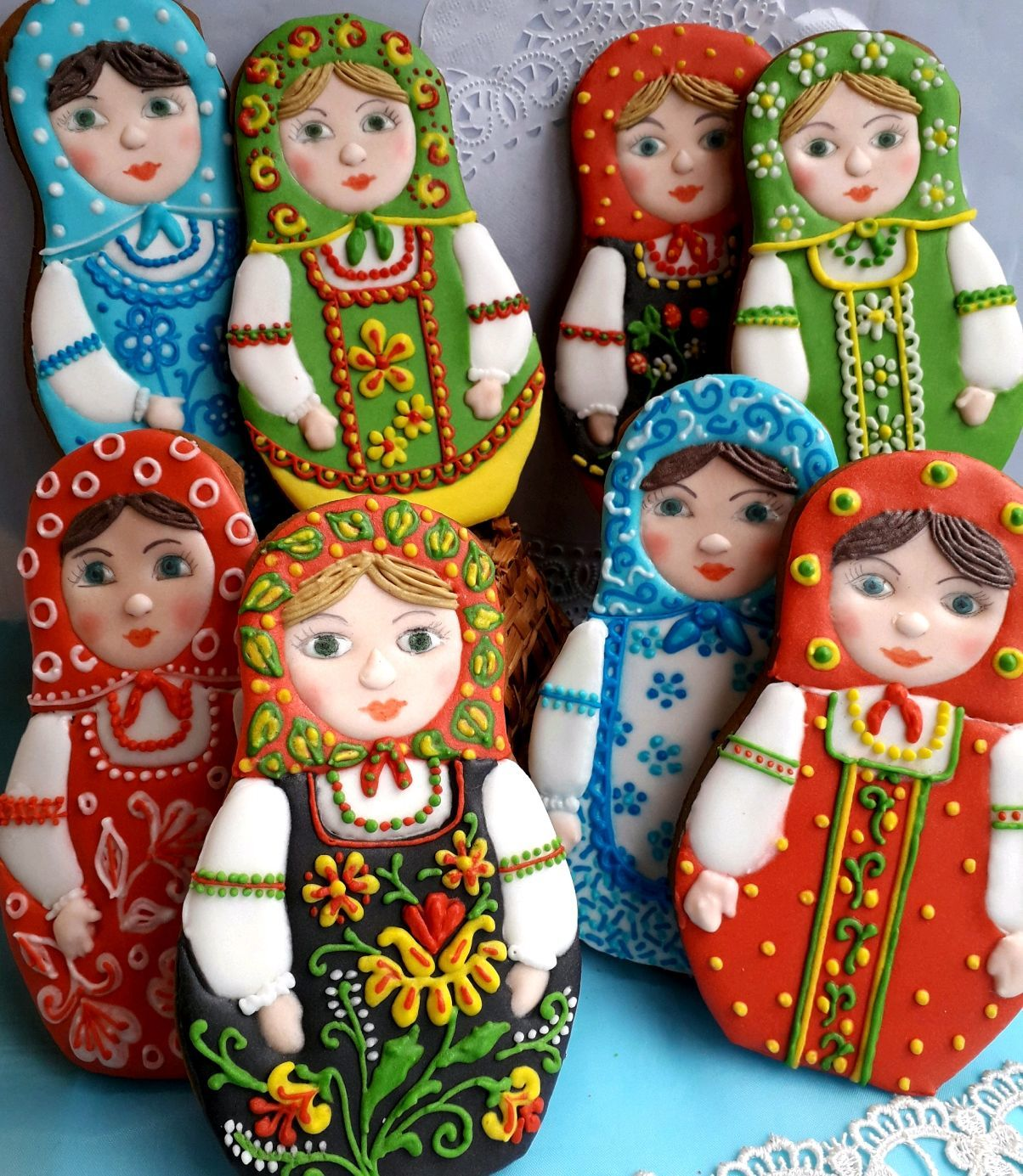 gingerbread matryoshka. Russian souvenir, Gingerbread Cookies Set, Rostov-on-Don,  Фото №1
