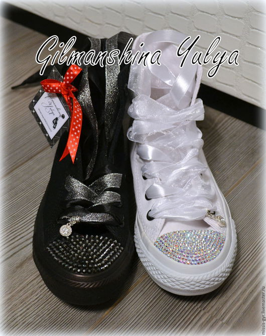 Обувь ручной работы. Ярмарка Мастеров - ручная работа. Купить День-ночь. Handmade. Стразы swarovski, для девочки, чёрно-белый