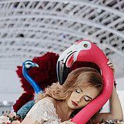 Аксессуары ручной работы. Ярмарка Мастеров - ручная работа Цветочный фламинго. Handmade.