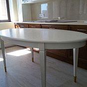 Столы ручной работы. Ярмарка Мастеров - ручная работа Овальный дубовый стол. Handmade.