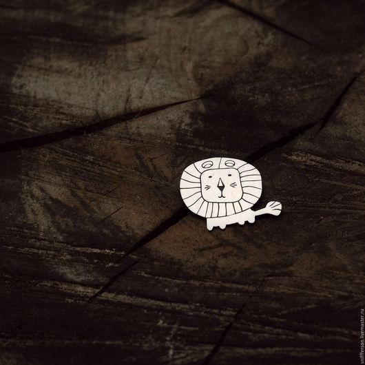 Броши ручной работы. Ярмарка Мастеров - ручная работа. Купить серебряная брошь лев. Handmade. Серебряный, африка, саванна, животное