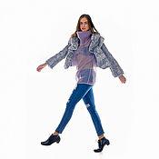 Одежда ручной работы. Ярмарка Мастеров - ручная работа Вязаный крючком жакет пальто из мериносовой шерсти. Handmade.