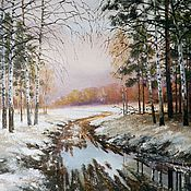 Картины и панно handmade. Livemaster - original item Landscape oil Painting Autumn slush Vladimir Chernov. Handmade.
