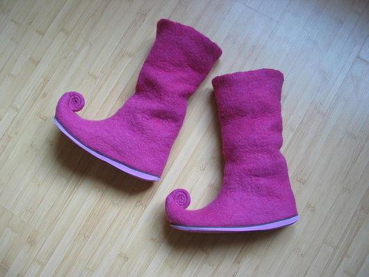 """Обувь ручной работы. Ярмарка Мастеров - ручная работа. Купить Валенки """"РОЗОВЫЕ ЭЛЬФЫ"""". Handmade. Валенки, валенки на подошве"""
