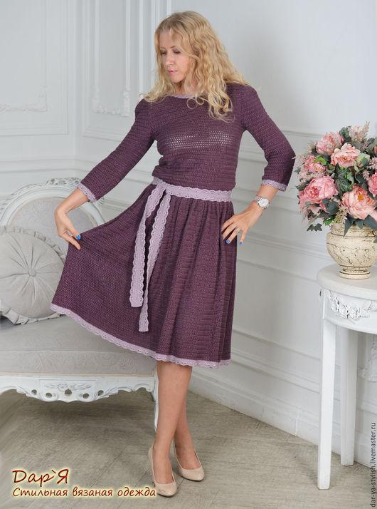 """Платья ручной работы. Ярмарка Мастеров - ручная работа. Купить """"Виктория"""" вязаное платье из шелка. Handmade. Платье, элегантное платье"""