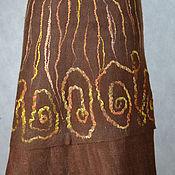 """Одежда ручной работы. Ярмарка Мастеров - ручная работа юбка валяная """"Просто коричневая"""". Handmade."""