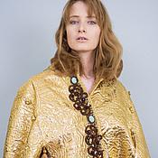 """Одежда ручной работы. Ярмарка Мастеров - ручная работа Кейп """"Золото. Handmade."""