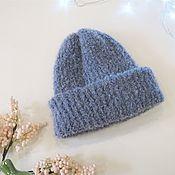 handmade. Livemaster - original item Hats: double lapel cap with elastic band. Handmade.