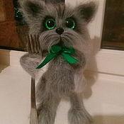 Куклы и игрушки handmade. Livemaster - original item Fluffy cat Bandit. Handmade.