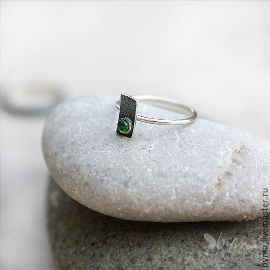 Кольцо серебряное бохо шик