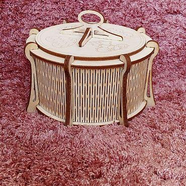 Для дома и интерьера ручной работы. Ярмарка Мастеров - ручная работа Шкатулка круглая ``Влюбленность``. Handmade.