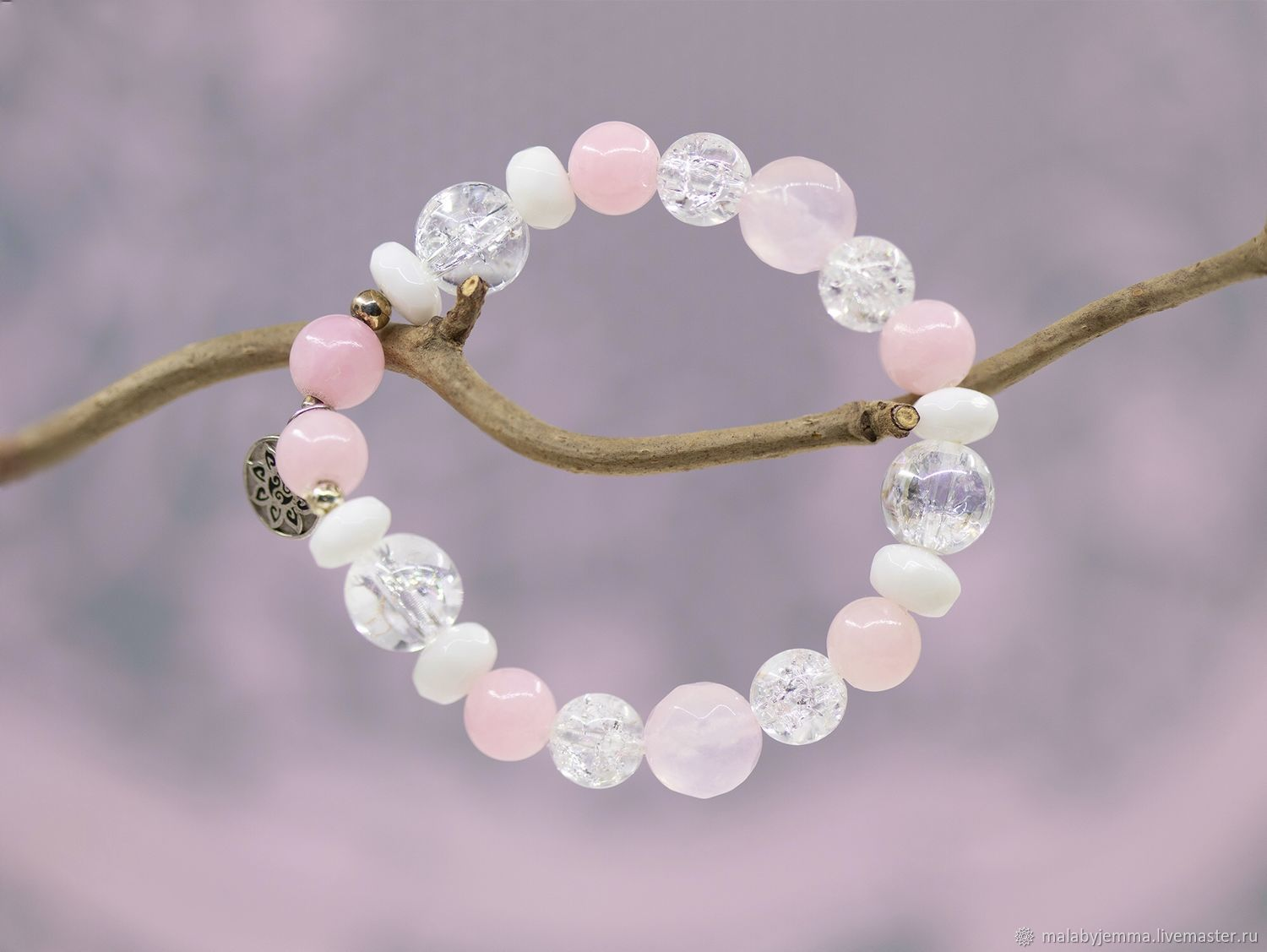 Rose quartz bracelet ' Good Mood», Bead bracelet, Magnitogorsk,  Фото №1