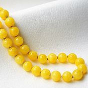 Украшения ручной работы. Ярмарка Мастеров - ручная работа Колье-бусы из оникса жёлтого цвета. Handmade.