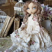 Куклы и игрушки handmade. Livemaster - original item Lisa. Textile collector`s doll. white. Milk. Embroidery.. Handmade.