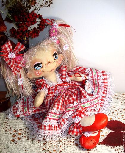 Сказочные персонажи ручной работы. Ярмарка Мастеров - ручная работа. Купить Текстильная Кукла на Счастье. Розочка2.. Handmade. Интерьерная кукла