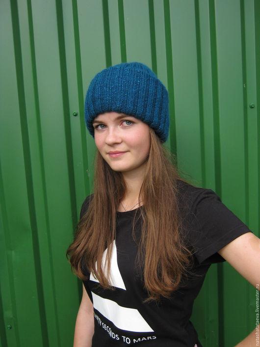 Шапки ручной работы. Ярмарка Мастеров - ручная работа. Купить шапка женская. Handmade. Морская волна, шапка, шапка женская