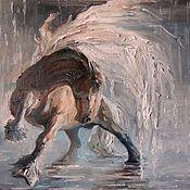 Картины и панно ручной работы. Ярмарка Мастеров - ручная работа Конь-дождь. Handmade.