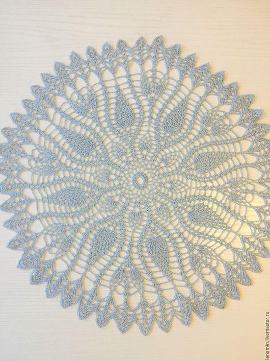 Текстиль, ковры ручной работы. Ярмарка Мастеров - ручная работа. Купить Салфетка, лен, 56 см. Handmade. Голубой