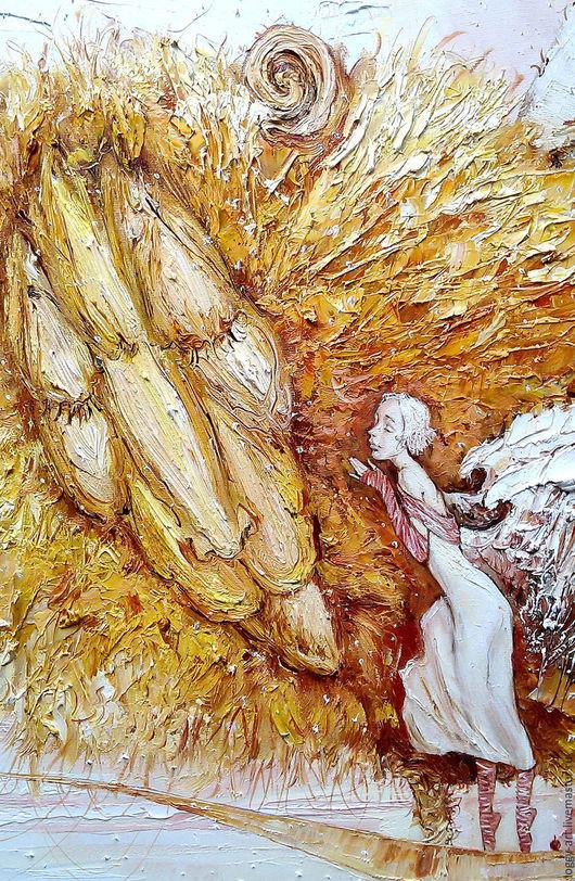 """Животные ручной работы. Ярмарка Мастеров - ручная работа. Купить """"Навстречу весне.....     """". Handmade. Бежевый, ангел снов, крылья"""