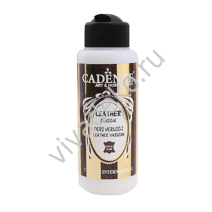 Лак для кожи водный Cadence Leather Varnish Closs, 70 мл, арт LVC01, Лаки, Москва,  Фото №1