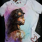 Одежда handmade. Livemaster - original item t-shirt: Hand-painted Memories lost T-shirt. Handmade.