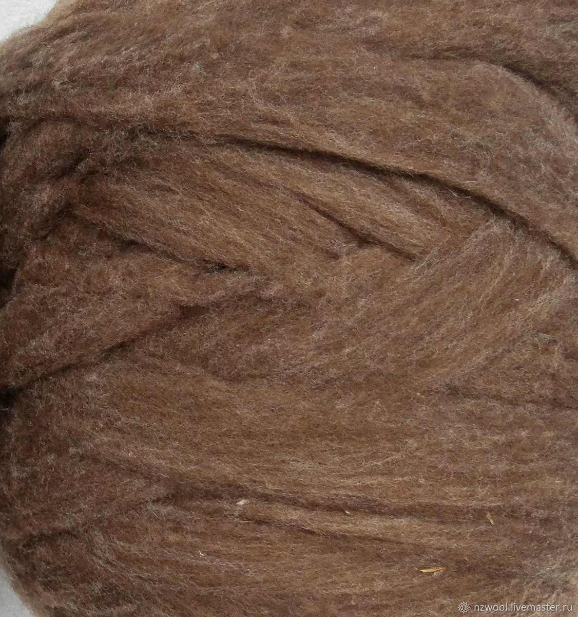 Merino sliver natural colors - chocolate, Wool, Christchurch,  Фото №1