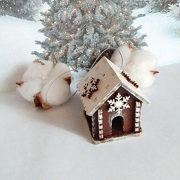 Сувениры и подарки ручной работы. Ярмарка Мастеров - ручная работа Домик на елку. Handmade.